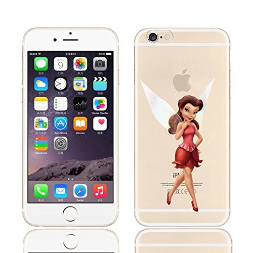 Disney Tinkerbell & Fairy Friends Clear TPU Soft CASE for Apple iPhone 8 ()