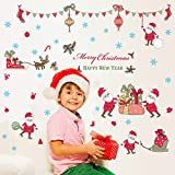 ( 2 PCS )Merry Christmas Window Stickers Removable The Santa Claus Wall Decals DIY Home Decor Glass Door Decal Showcase Stickers Decoration for Christmas New Year(23 * 35 inch And 20 * 27 inch)