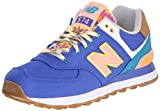 New Balance Damen WL574V1 Sneakers, Mehrfarbig (Blue/Green), 37.5 EU