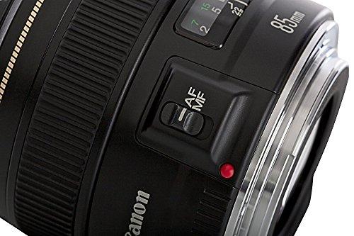 Bild 1: Canon Objektiv EF 85mm F1.8 USM Portraitobjektiv Lens für EOS (Festbrennweite, 58mm Filtergewinde, Autofokus) schwarz