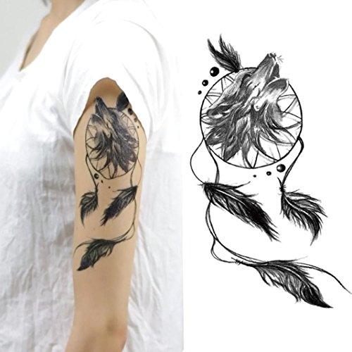 HLHN 7 Verschiedene Muster Ungiftig Wasserdichte Temporäre Tattoos -