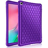 """FINTIE Silicone Case for Samsung Galaxy Tab A 10.1"""" (2019) Model SM-T510 / T515, [Honey Comb Series] [Kids Friendly] Soft Light Weight Shock Proof Protective Cover, Purple"""