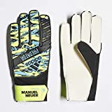 adidas Kinder PRED YP MN Soccer Gloves, solar Yellow/Bright Cyan/Black, 5