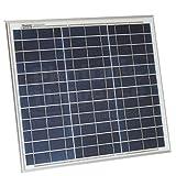 LaDicha Caricabatteria Per Pannello Solare A Energia Solare 12V 30W Policristallino Con Cavo A Coccodrillo Da 5 M