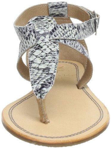 Black Lily Cecilia snake sandal, Sandali donna Multicolore (Mehrfarbig (snake))