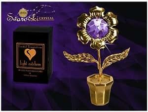 Gustav Lindner 4201-GC tulipano fiore 70 millimetri Componenti Swarovski CRISTALLO TEMPTATIONS® realizzato con SPECTRA® CRISTALLO - 24 carati placcata in oro – antiappannante - confezionate singolarmente in una scatola regalo