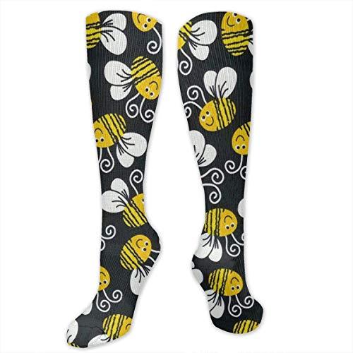 RIPO Socken für Damen, Herren und Mädchen, ideal für Medizin, Stillen, Wandern, Flugreisen, Laufen, Fitness (Bumblebee)