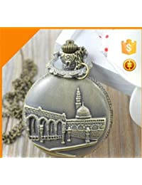 Delhitraderss Vintage Mecca And Medina Metal Bike Car Bag Keychain Pocket Watch Clock |Pendant