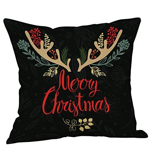 Mitlfuny Weihnachten DIY Home Decor 2019,Happy Christmas KissenbezüGe BettwäSche Sofa Kissenbezug Home Decor Kissenbezug