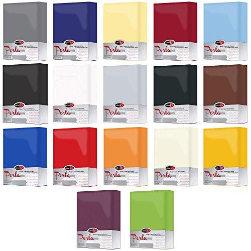 Spannbettlaken für Topper Matratzenauflage | 4 Größen, viele Farben | 100% Mako-Baumwolle mit Rundumgummi | 0004261 CelinaTex Perla | 180 x 200 - 200 x 200 cm | anthrazit -