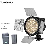 YONGNUO YN216 YN-216 LED Video Camera Light 3200K-5500K Color Temperature With 4 Color Plates + 2200mAh NP-F Battery + Battery Charger For Canon Nikon DSLR Cameras