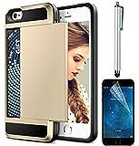 Hülle für iPhone 6/6S 4.7' , Sunroyal Dauerhaft 3 in 1 Weichem Silikon Zurück Bumper Slim-Schutzhülle Tasche Case