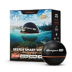 Deeper PRO PLUS smart Fischfinder - kabelloser W-LAN Fischfinder mit eingebautem GPS für Ufer Angler