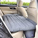 #6: PETRICE CARBED Car Inflatable Mattress Air Bed With Pump (Grey)