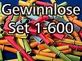 Röllchenlose bunt gemischt, Set 1-600
