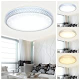 VINGO® 60W LED Ceiling Light Color Changing Wall Lamp Starlight Design Ceiling Lamp Living Room Bedroom Ceiling Lights Round Crystal Mordern Nursery Stars Decor Energy Saving Floor Lamp