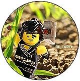 SPQR Lego Ninjago - Cole - Abzeichen / Schlüsselanhänger / Flaschenöffner / Magnete, Stahl Kunststoff, Gemischt, Magnet (58mm)