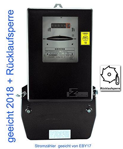 Drehstromzähler 10(60)A geeicht (zugelassen) mit Rücklaufsperre (max. 41,4 kW) von Prüfstelle EB17