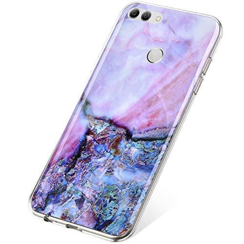SainCat Funda Compatible Huawei Y9 2018 Case Protector,Glitter