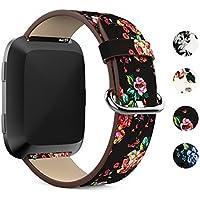 Fitbit Versa Armband, Fundro Weiches Ersatz Zubehör Lederbänder Leder Uhrenarmband Armbänder Für Fitbit Versa Fitness Tracker