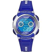 Hiwatch Reloj Multifuncional LED Digital a Prueba de Agua Relojes para los Niños