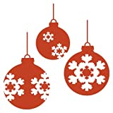 plot4u Aufkleber Weihnachtskugeln Autoaufkleber in 7 Größen und 25 Farben (20x20cm kupfermetalleffekt)