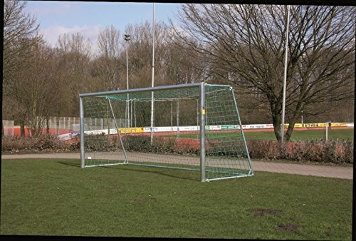 W&H Fußballtor - Bolzplatztor - 3,00 x 2,00 m mit Stahlauslage - inkl. Netz, Untere Tortiefe/Auslage:2.00m