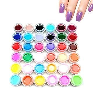 Xiton UV Nagellack 36 farbgel UV Gel für nägel Gelnägel Farben Farbe Nagellack Nail Polish Gel Nagellack UV für Nagel-Design Gelnägel Set