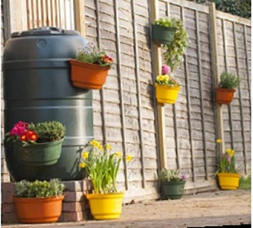 4x-premium-curved-garden-planters-for-fences-colourful-attractive-green-yellow-black-and-terracotta-