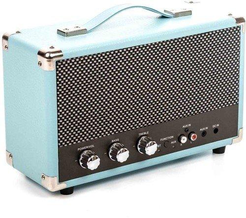 GPO Retro Westwood Altavoz 25 W Azul - Altavoces (Inalámbrico y alámbrico, Bluetooth/RCA/3.5mm, 25 W, Azul)
