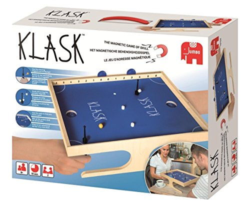 KLASK Board Game - The Magnetic Game of Skill - Award Winning Board Game / Tabletop Game | Challenge your opponent in a game of tactic, speed and loudness - 19.5 x 14.8 x 6 inches