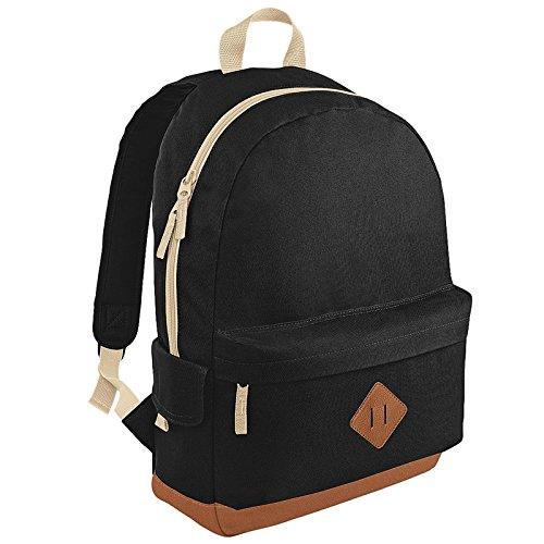 new-bagbase-heritage-retro-student-school-padded-backpack-rucksack-bag-black-one-size-by-bagbase