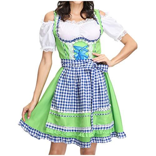 eider,MNRIUOCII Dirndl Ladies 'Beer Festival DienstmäDchen KostüM Bier Festival Kleid Sexy Dessous Kleid Maid'S Kleidung Cosplay KostüMe ()