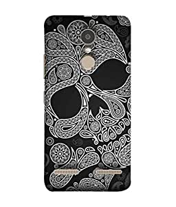PrintVisa Psychedelic Skull 3D Hard Polycarbonate Designer Back Case Cover for Lenovo K6 Power