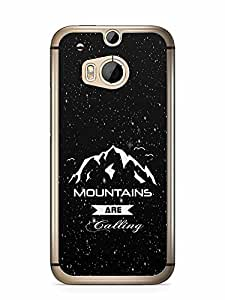 YuBingo Mountains are Calling Designer Mobile Case Back Cover for HTC One M8