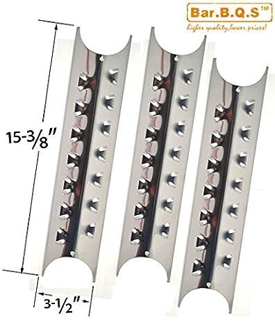 bar. b.q.s h95181Lot de 3de la chaleur en acier inoxydable plaque de rechange pour Brinkmann Pro Series 8410, charmglow 810–8410-f, Kenmore, 148.1637110et Master Forge e3518-lp, L3218,