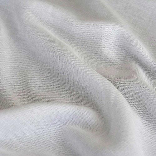 Weiß Ägyptische Musselin Baumwolle Stoff Premium Voile 152,4cm 150cm breit, Meterware, (Ägyptische Baumwolle Stoff)
