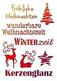 Schablone'Weihnachtsmotive + Schriften', DIN A4