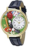 Whimsical Watches Unisex G0820007 Baseball Blue Leather Watch