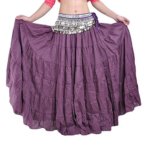 Yijee danza del ventre boemia stile lunga donne halloween costume buio porpora