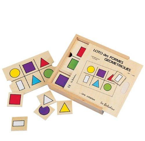 JB Bois - Jeux de mémo, loto, domino - Loto des formes géométriques