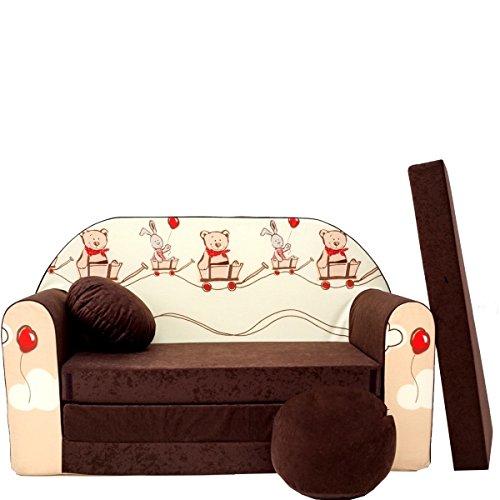 Barabike K27-a Bébés pour Enfants Mini Canapé bébé Canapé lit Pouf Lot de 3 en 1 d'oreillers en Mousse
