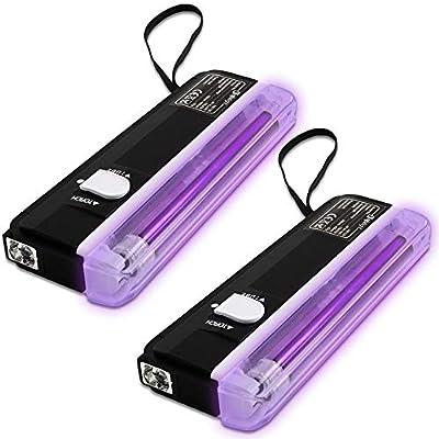 2x Ultraviolet Mini UV Glowing Disco DJ Tube Lights Halloween Party Lighting