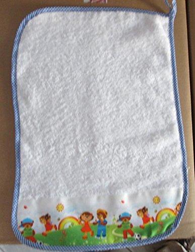 Asciugamano Bambino Asilo cm 35x52. In spugna italiana, con nome del bambino ricamato. Dopo l'acquisto inviaci un messaggio con il nome da RICAMARE