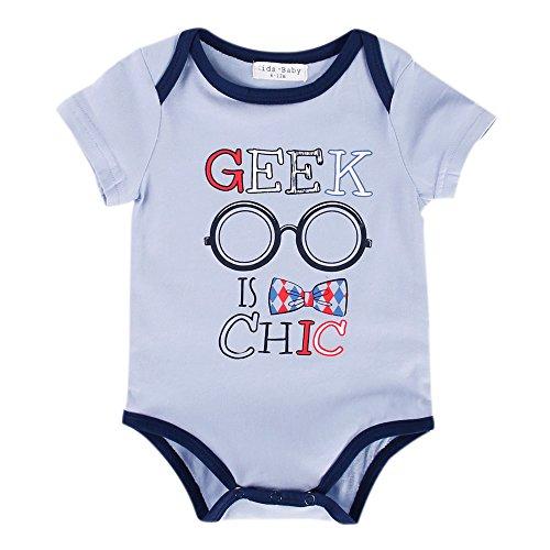 Sanlutoz Baby Jungen (0-24 Monate) Body Gr. 86, R14 GEEK