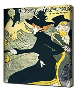 toulouse lautrec le divan japonais poster haute qualit reproduction impression sur toile. Black Bedroom Furniture Sets. Home Design Ideas