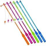 COM-FOUR® 6x Elektronische LED-Laternenstäbe in verschiedenen Farben [Auswahl variiert], batteriebetriebener Laternenstab, 51,5 cm