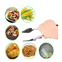 Kitchen Tongs Nonstick Stainless Steel with Stand and Silicone Tips Food Tong BBQ Tongs 12 Inch