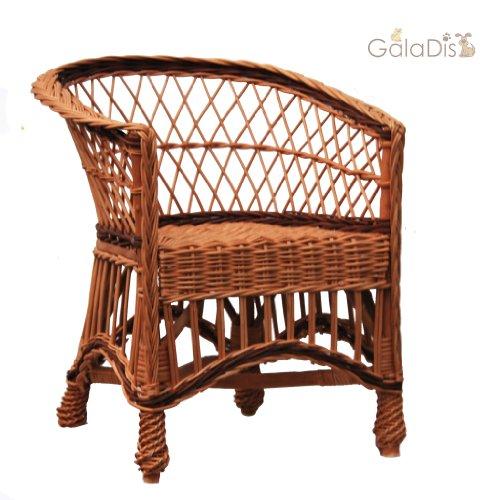 GalaDis 12-12 Korbsessel aus Weide geflochten/Sessel / Stuhl für Kinder/Puppenstuhl