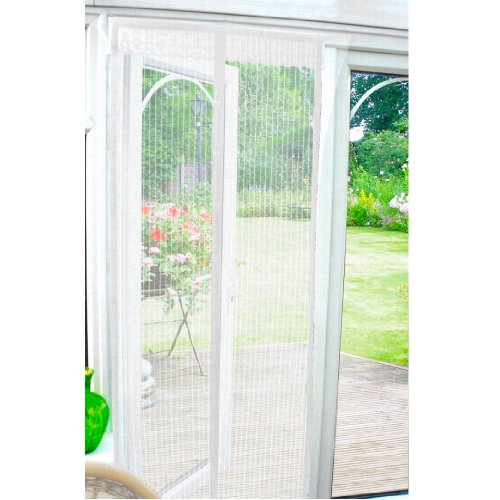 Magnetic Insect Door Screen - White